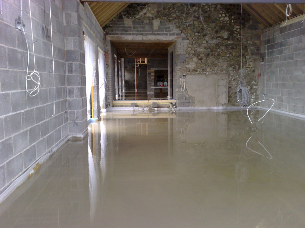 Liquid Screed laid at Dryslwyn Carmarthen
