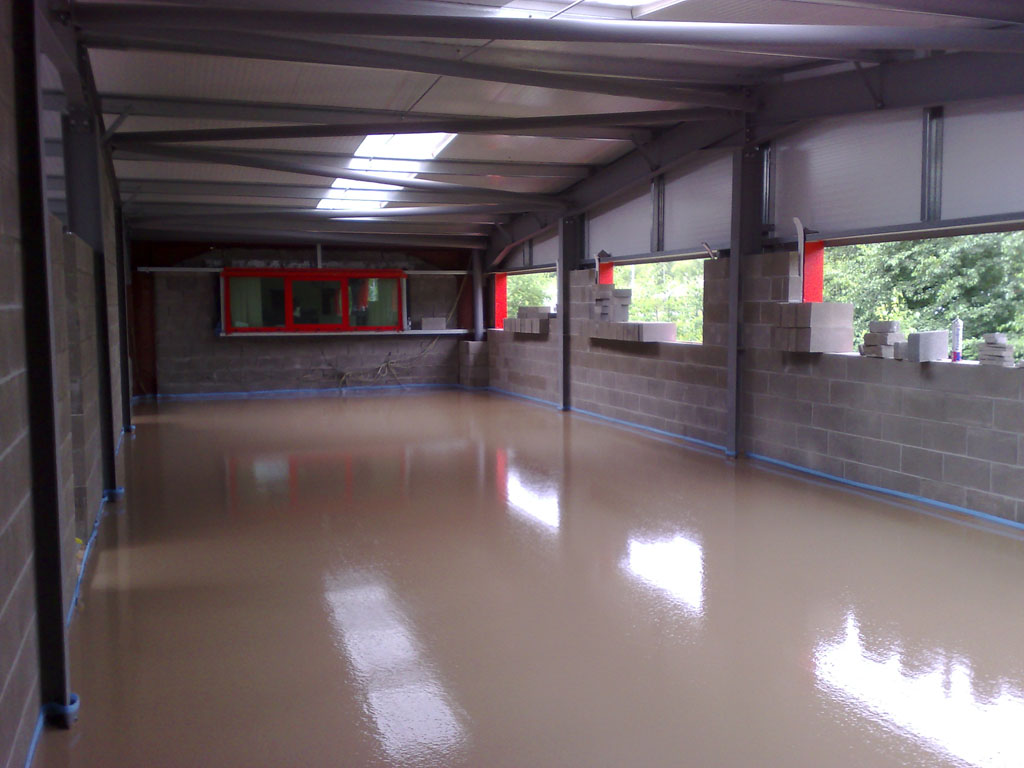 Screed Laid for new offices at Tyre Depot In Risca