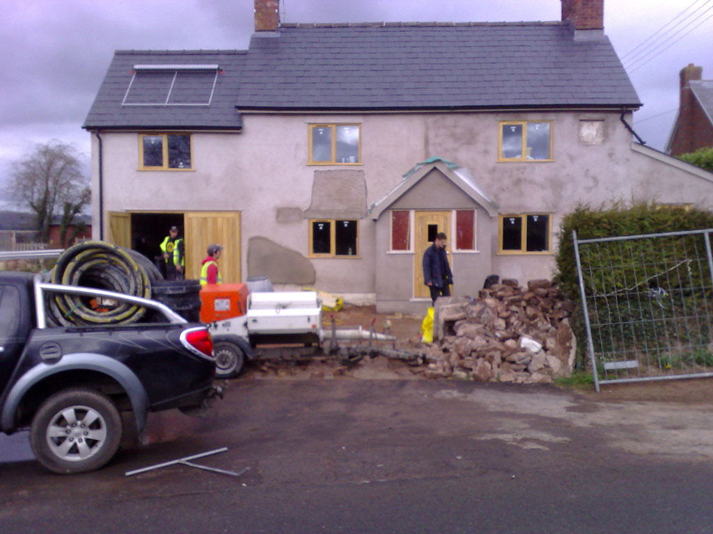 Renovation at Broadoak Herefordshire